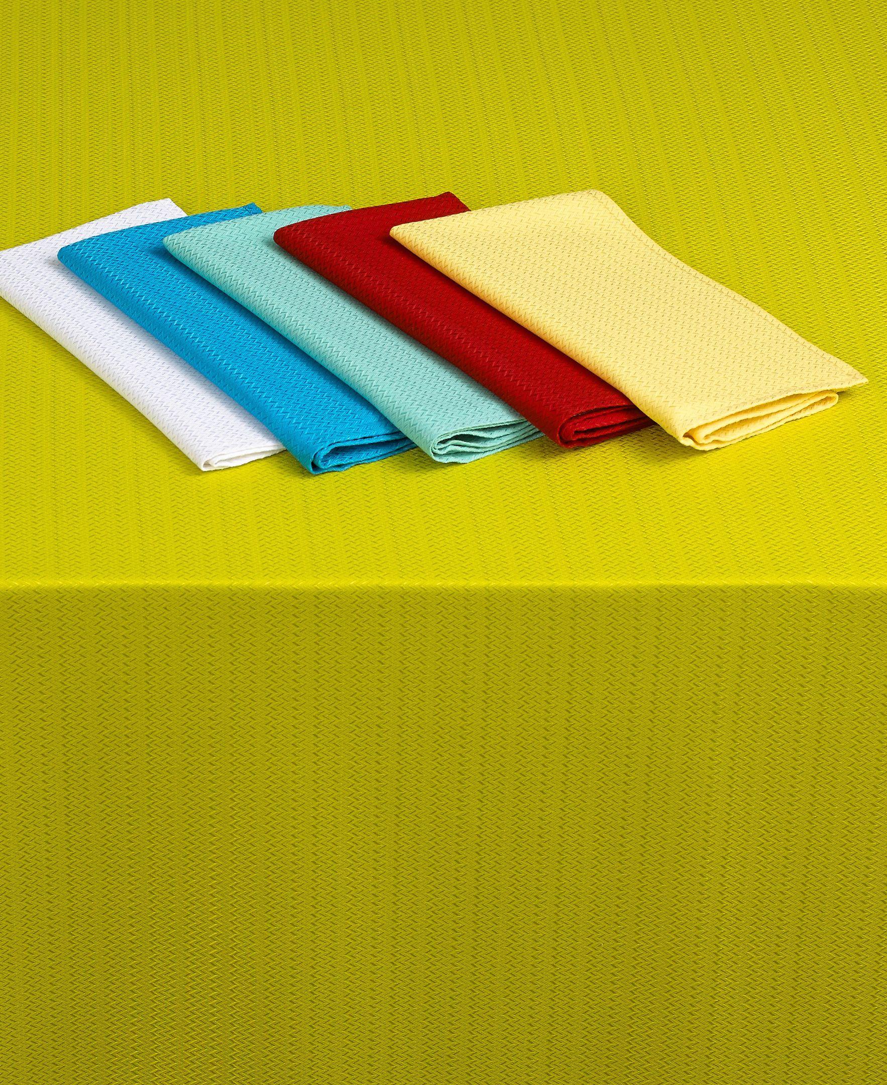 "Fiesta Table Linens, Zig Zag 60"" x 102"" Tablecloth"