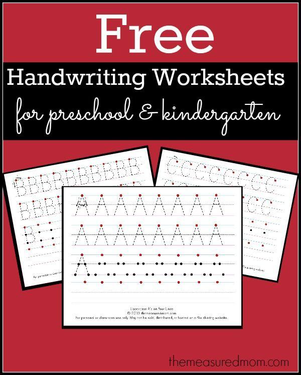 free printable handwriting worksheets for preschool kindergarten best of the measured mom. Black Bedroom Furniture Sets. Home Design Ideas