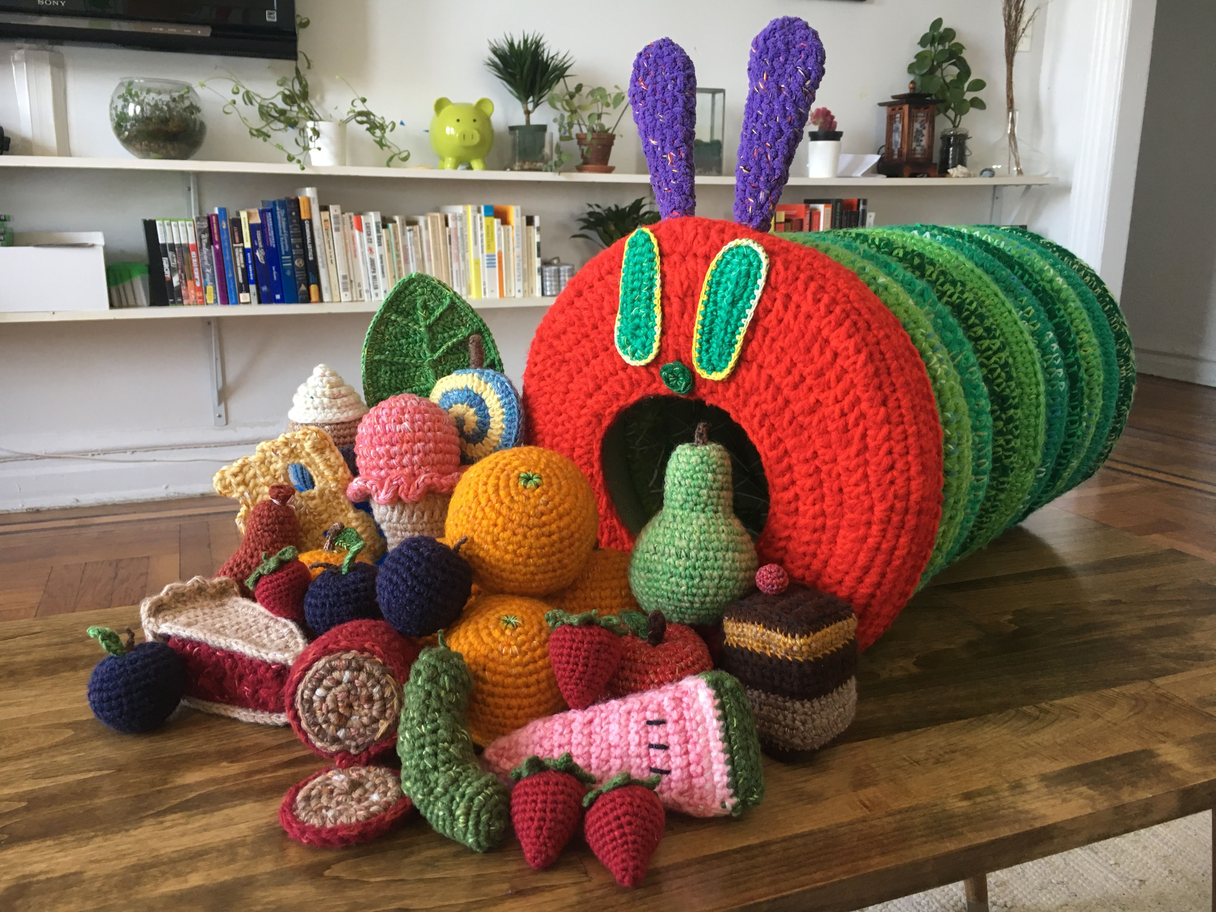 The Very Hungry Caterpillar (crochet)