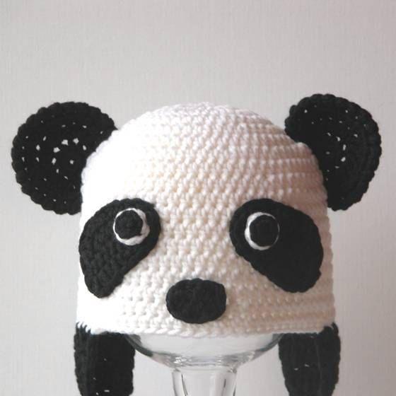 Crochet Animal Hat Pattern Penelope the Panda by hookedandchained ...