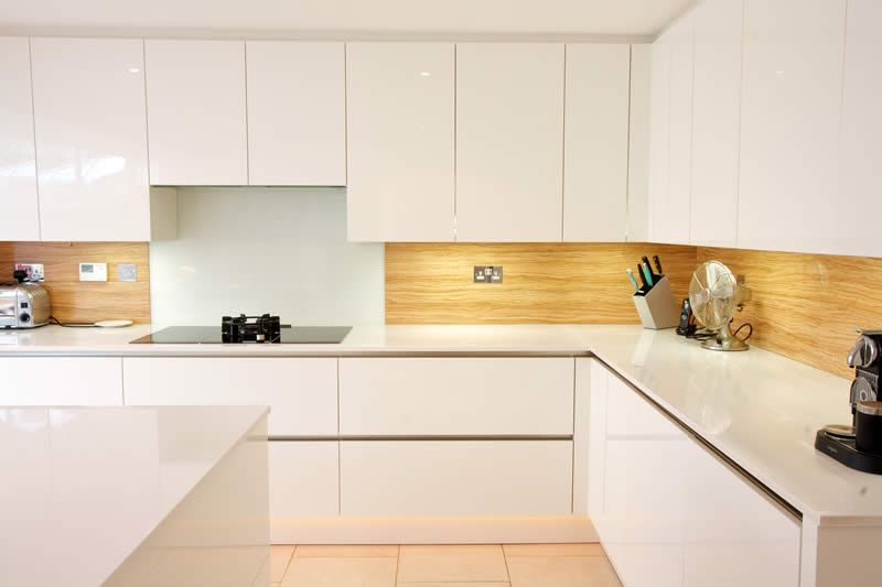 White Kitchen Splashback splashbacks from lwk kitchens - a gloss white kitchen design with