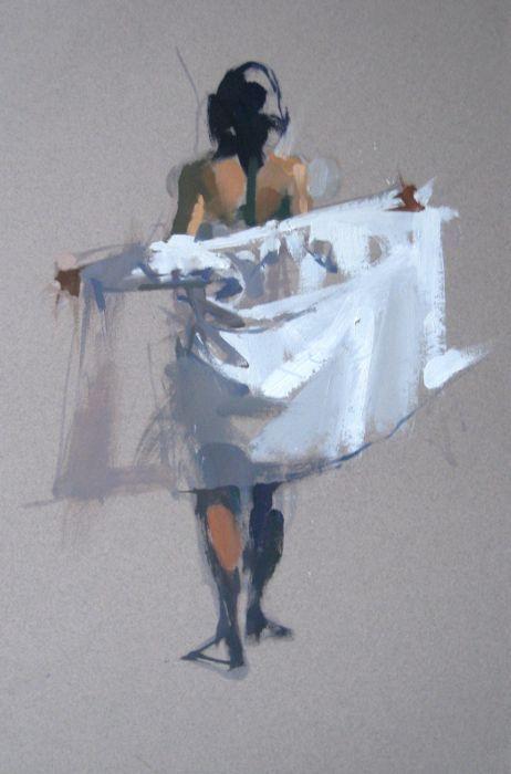 Ww Derobing Aquarell Kunst Aktmalerei Malerei