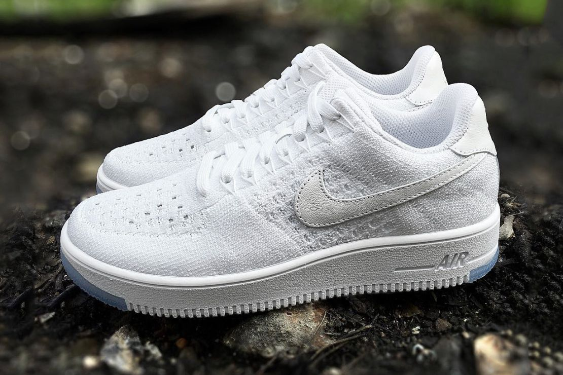 5c593a8e33db3 A First Look at the Nike Air Force 1 Flyknit Low White Ice in 2019 ...