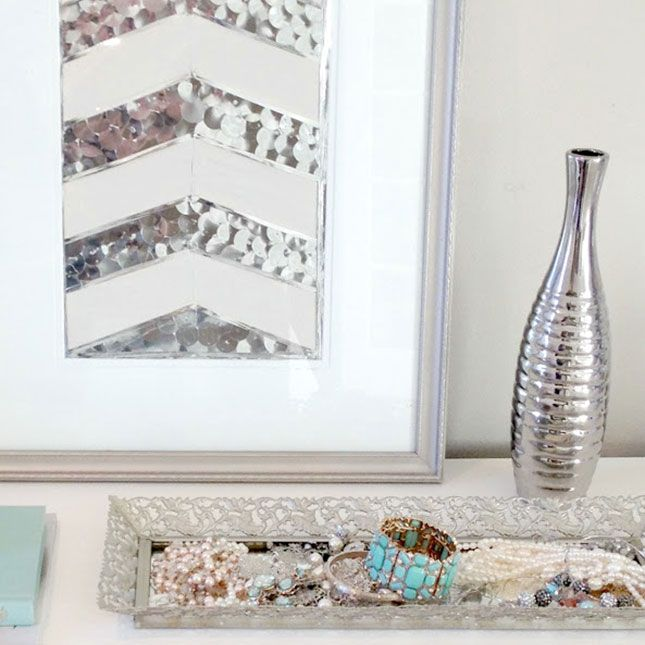 Add some sparkle and shine to your home with this simple sequin add some sparkle and shine to your home with this simple sequin wall art project solutioingenieria Choice Image