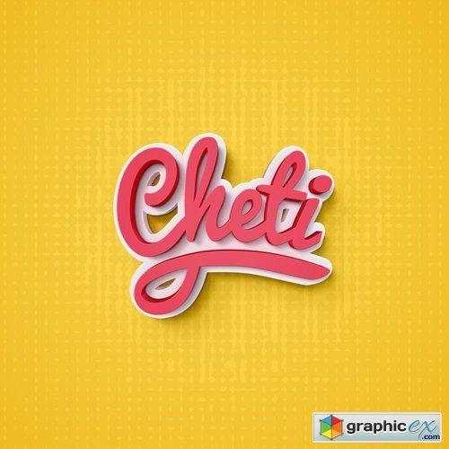 Cheti Psd Text Effect