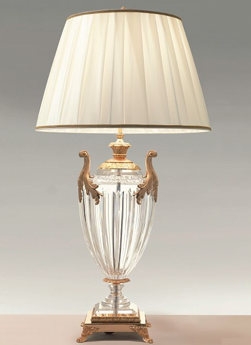 A luxurious hand cut crystal table lamp for your dressing table or maybe your bedside