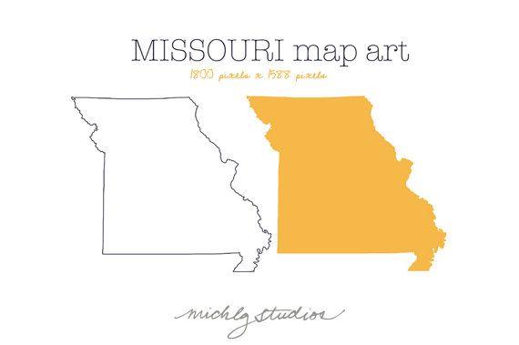 Vector Png Missouri Map Digital Clip Art State Country Etsy In 2021 Map Art Clip Art Digital Clip Art