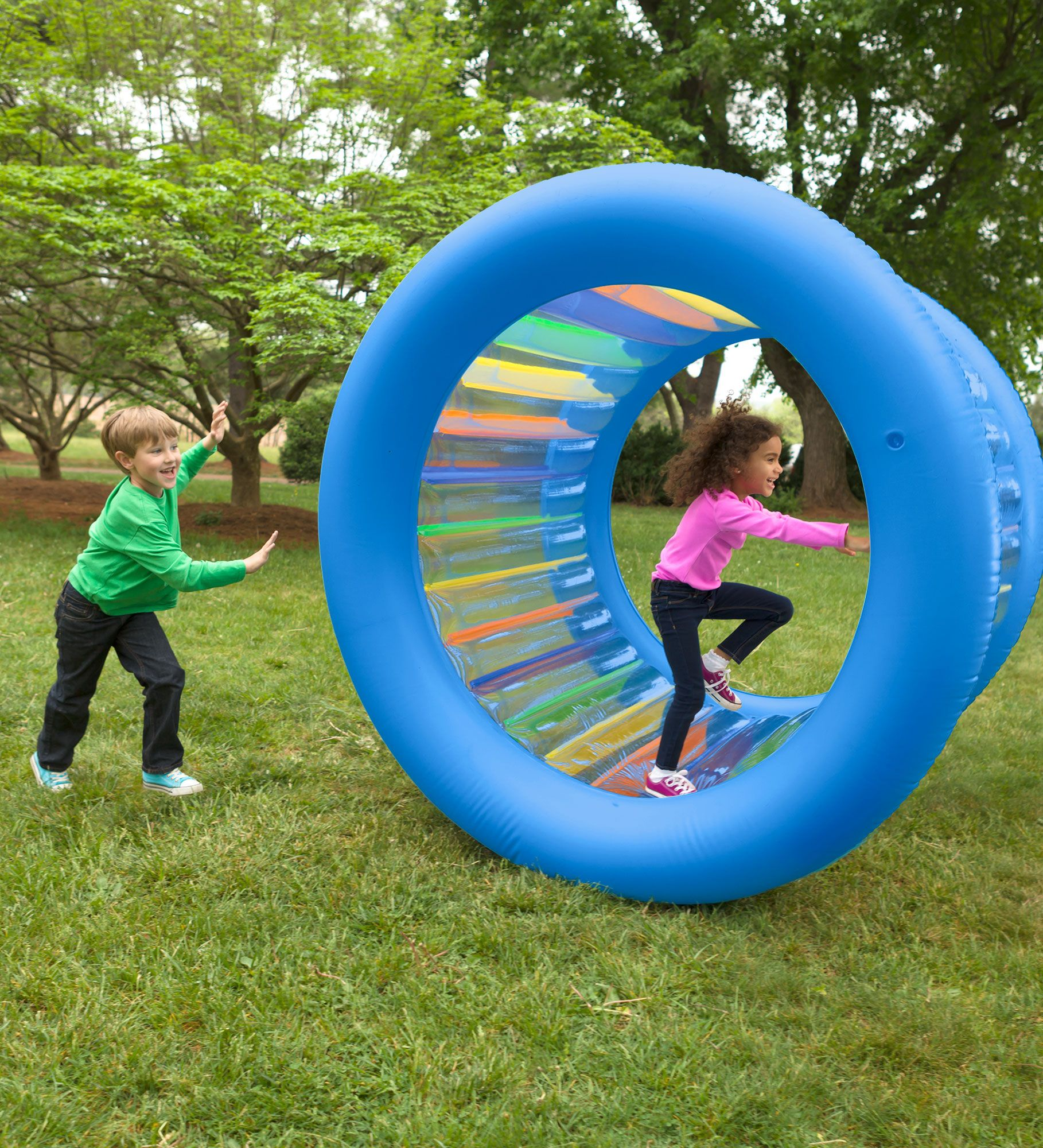 000739f1 Inflatable Land Roller | Giant Inflatable Wheel | HearthSong | Kids ...