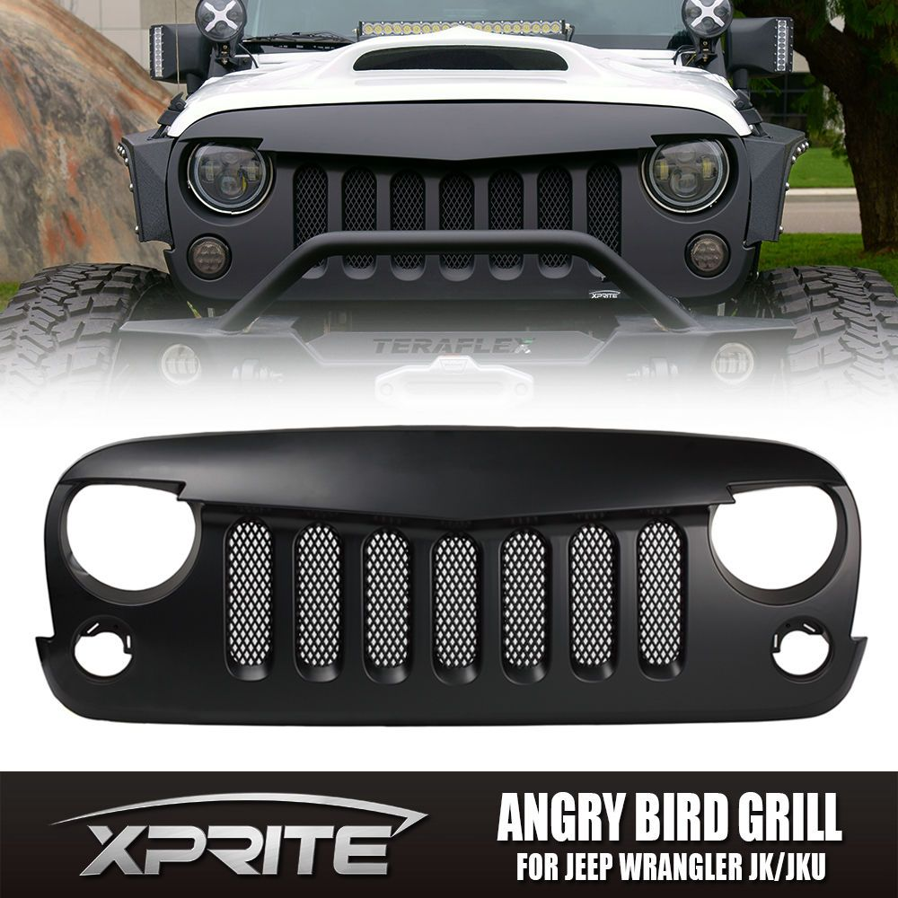 Front Angry Birds Eye Black Grill With Built In Mesh 2007 2017