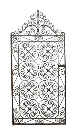 Early 20th C Wrought Iron Pedestrian Gate Uk Architectural Heritage Stone Wall Wrought Iron Garden Statues