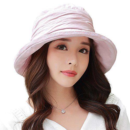 d7f7623df206d Siggi Ladies UPF50+ Crushable Bucket Boonie Sun Hat Fishing Hiking Sunhats  w  Chin Cord Pink