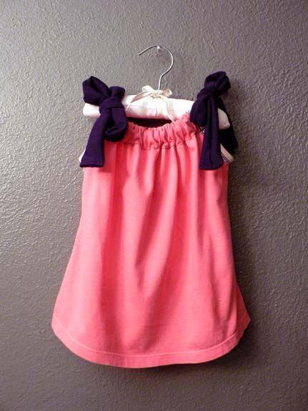 Lady\u0027s Shirt to Baby\u0027s Dress: A Photo Tutorial & Repurpose tshirt into girl dress | Sewing crafts for my kids ... pillowsntoast.com
