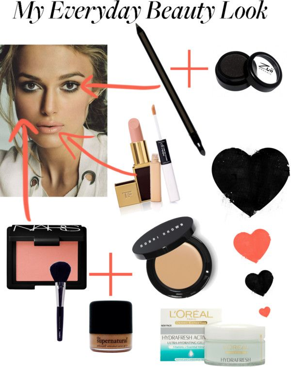 """My Everyday Makeup"" by ema1551 ❤ liked on Polyvore"