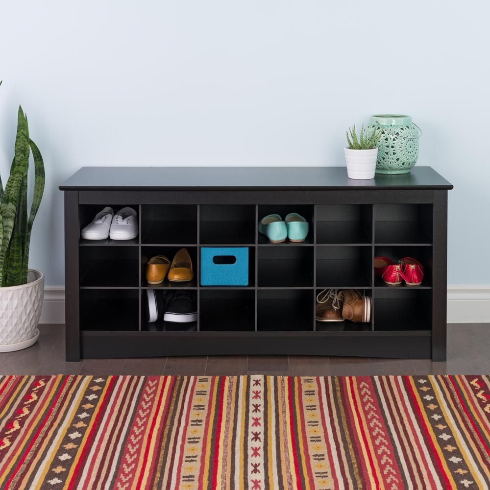 Prepac Sonoma Shoe Storage Cubbie Bench Bss 4824 The Home Depot