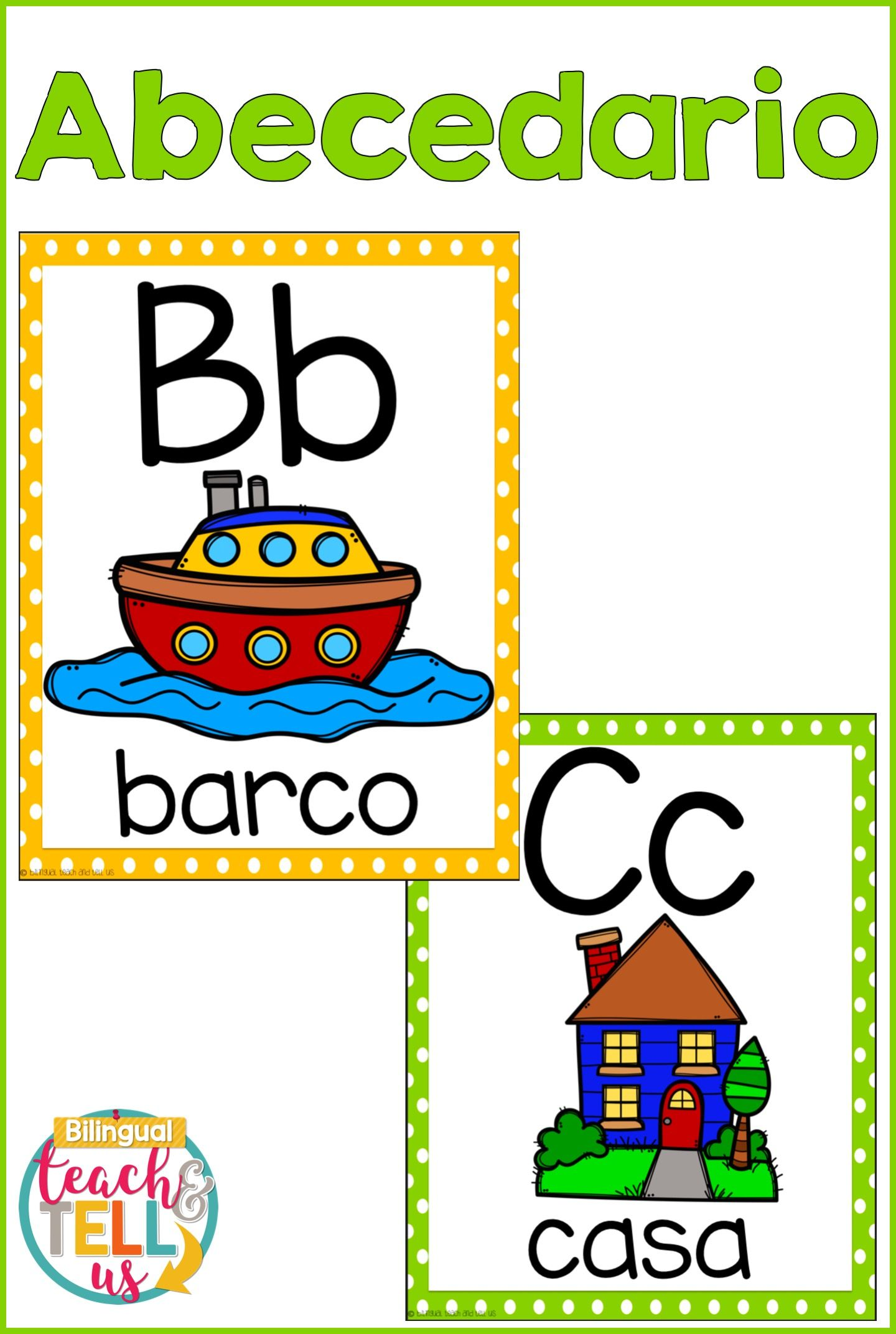 Alphabet Posters Spanish Alfabeto With Images