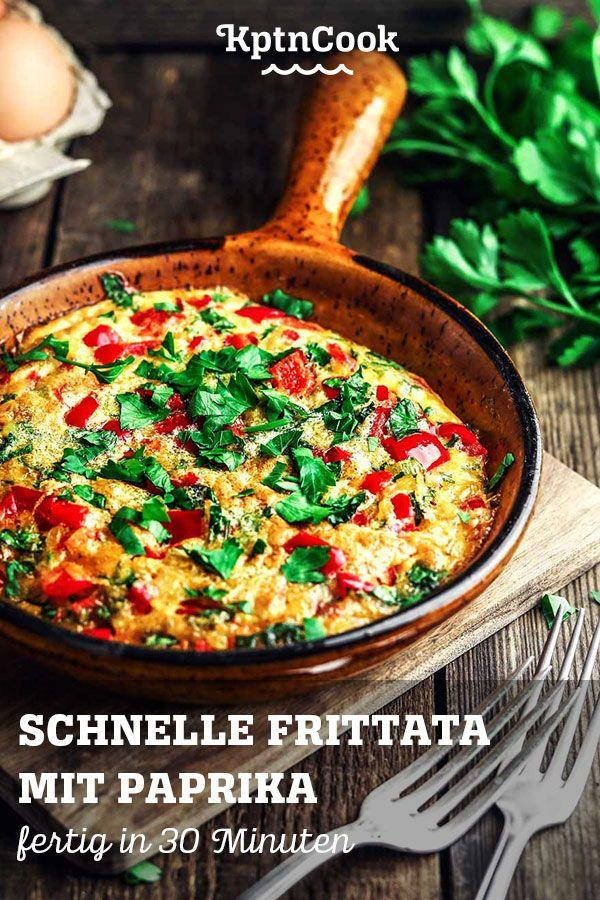 Schnelle Frittata mit Paprika