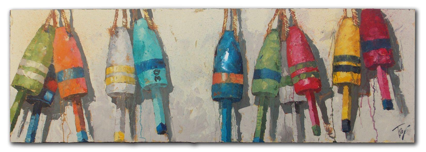 """Buoy Bands 24"""" X 72"""" Arts and crafts, Art, Floor cloth"""