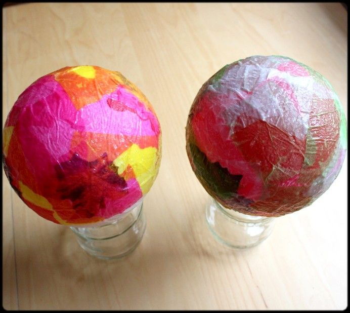 4 Schritt Papier Auf Ballon Kleben Diy 3 Herbstdeko Mit Kindern Basteln Herbstbastelprojekte Luftballons