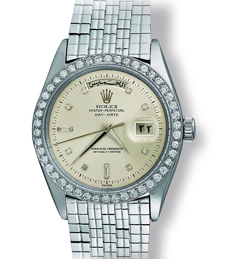 Extremely RARE! Rolex Day Date Ref.#6613 Circa 1959  Completely Made in White Gold . Significance of this Watch for Me is its Bracelet!  Via @goldberger 's Book by dapper.watches