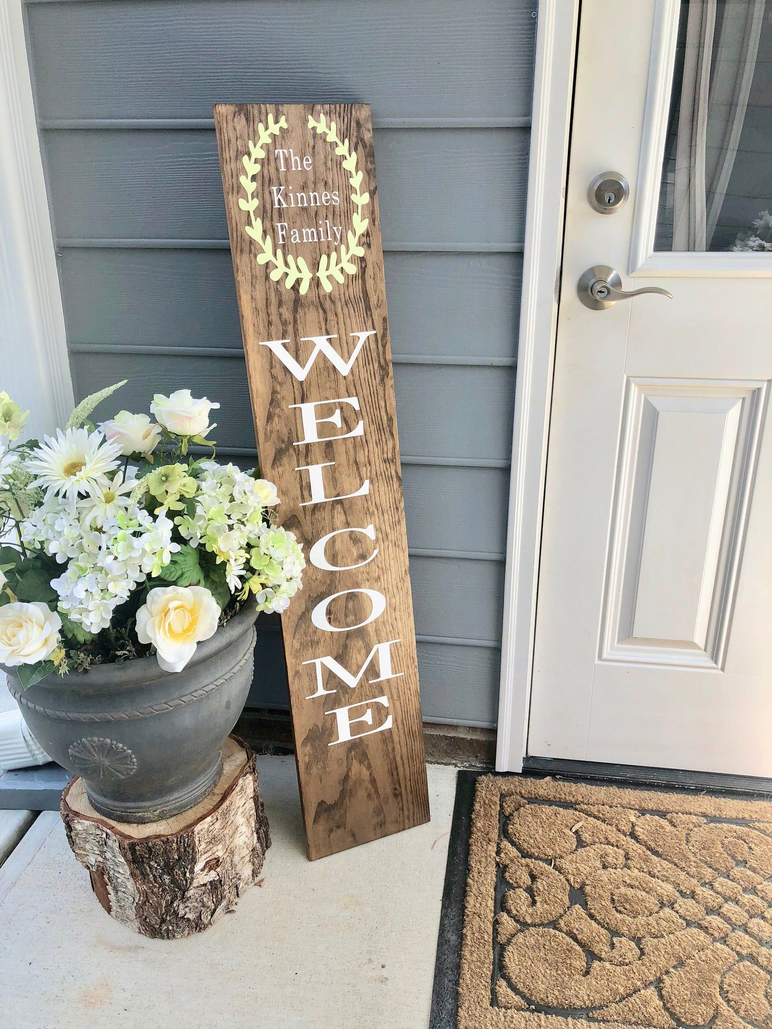 LARGE Front Porch Sign  Customized Front Porch Sign  WELCOME