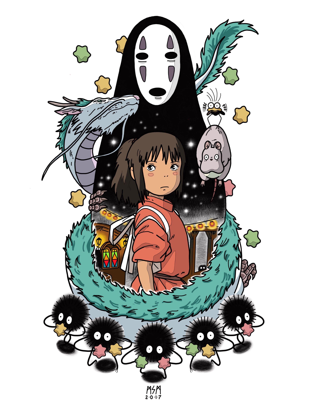 Spirited Away Etsy Ghibli Tattoo Studio Ghibli Tattoo Ghibli Art