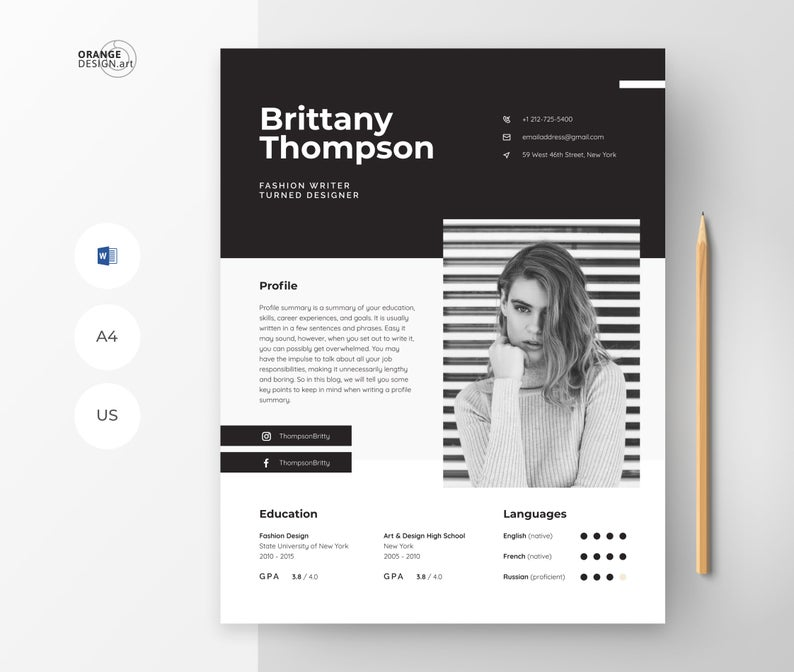 Pin On Creative And Professional Resume Templates Modern Cv Design