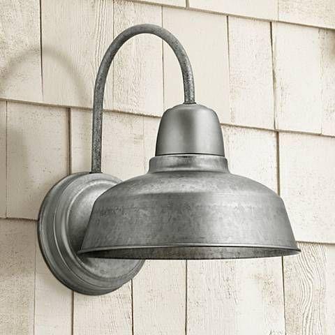 Urban Barn 13 High Galvanized Steel Outdoor Wall Light 4m534 Lamps Plus Outdoor Wall Lighting Outdoor Wall Light Fixtures Wall Lights