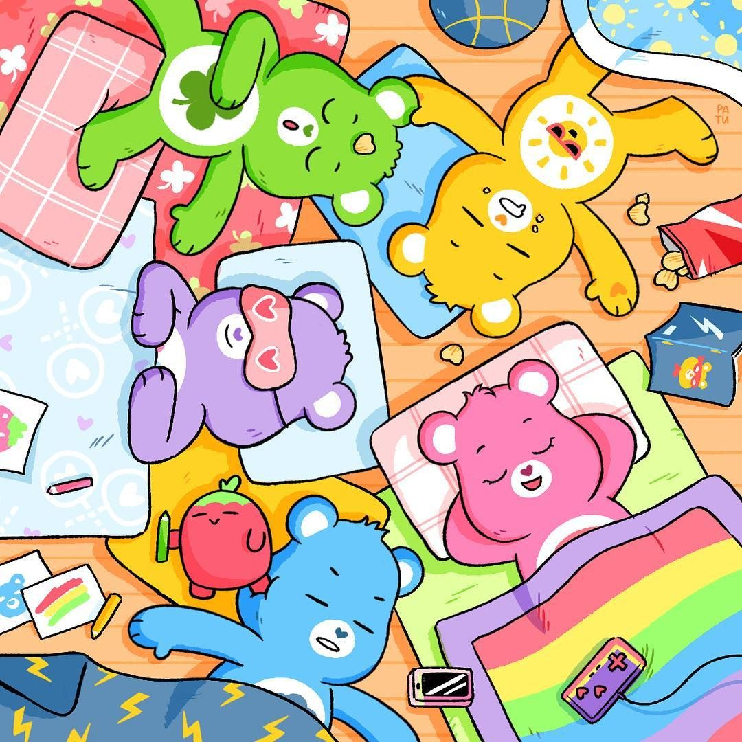 """Care Bears™ on Instagram: """"We like to party! And by party, we mean nap. 😴 Happy World Sleep Day!"""""""