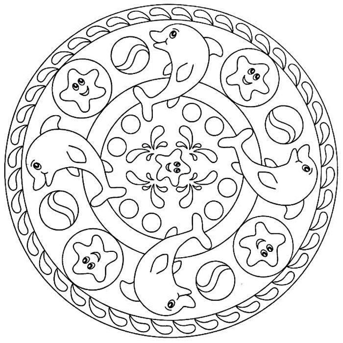 Coloriage Mandala Enfant