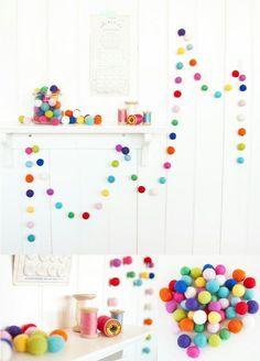Photo of Come realizzare una ghirlanda di palle Progetti fai-da-te Idee artigianali e come fare per la decorazione domestica con i video