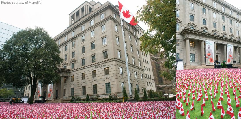 Business honours fallen with 11,800 flags of honour