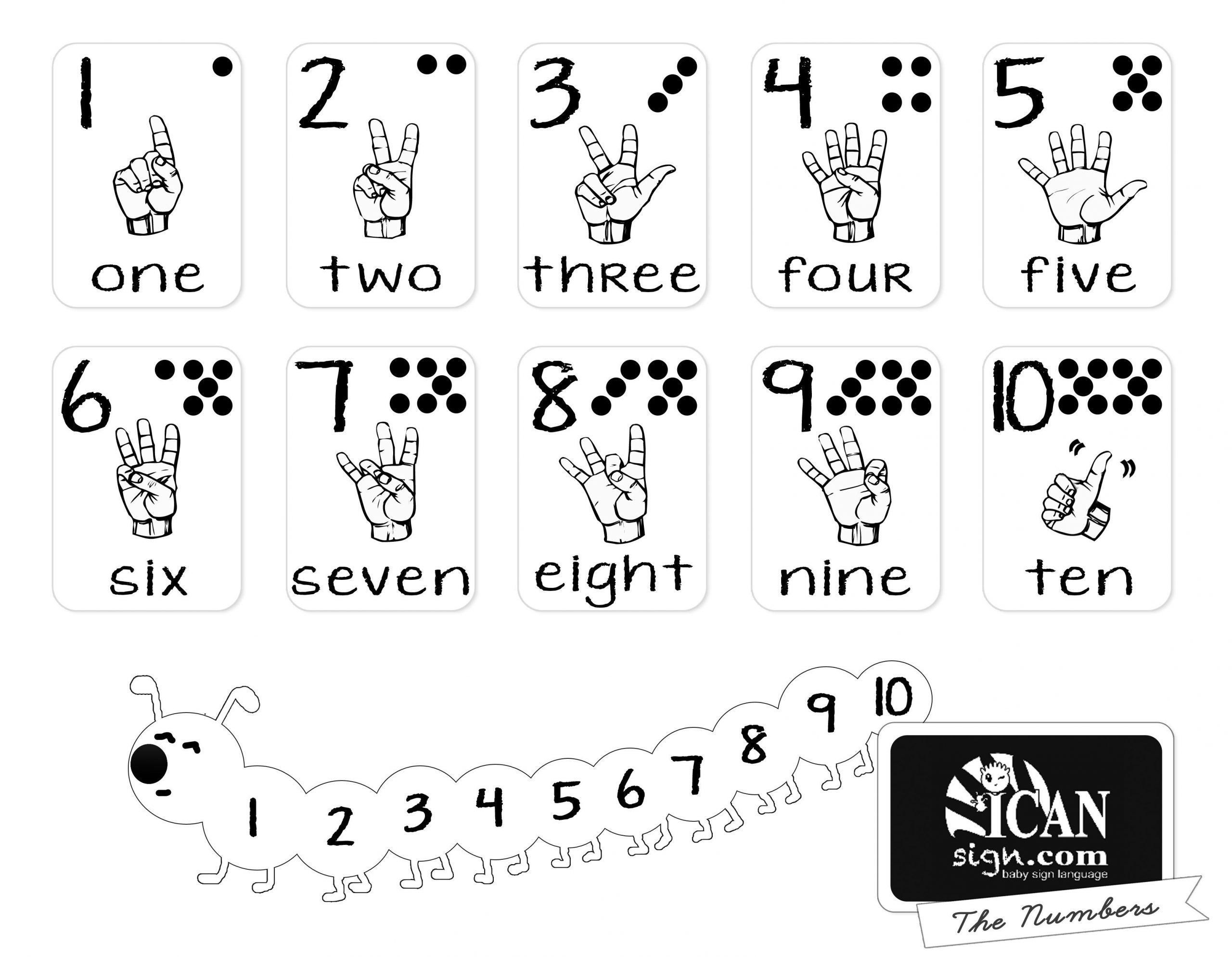 American Sign Language Worksheets Printable In