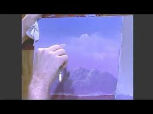 Painting Clouds with Jerry Yarnell #paintingtechniques #painting #techniques #clouds