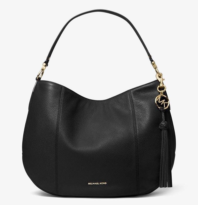 MICHAEL Michael Kors Grand sac porté épaule Brooke en cuir grainé ...