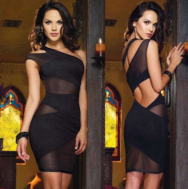 cfc24e5e012 Venta Al Por Mayor Nueva Moda Negro Del Vendaje De Bodycon Del Club Del Vestido  Para Las Mujeres Vestidos De Partido Atractivo De La Noche De La Celebridad  ...