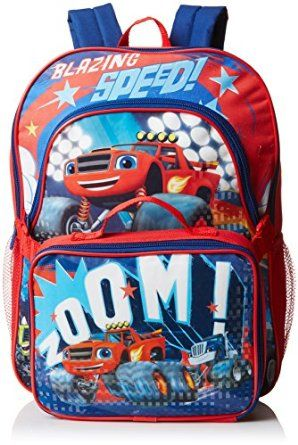 0d58bf1ed59e Blaze and The Monster Machines Backpack with Lunchbox