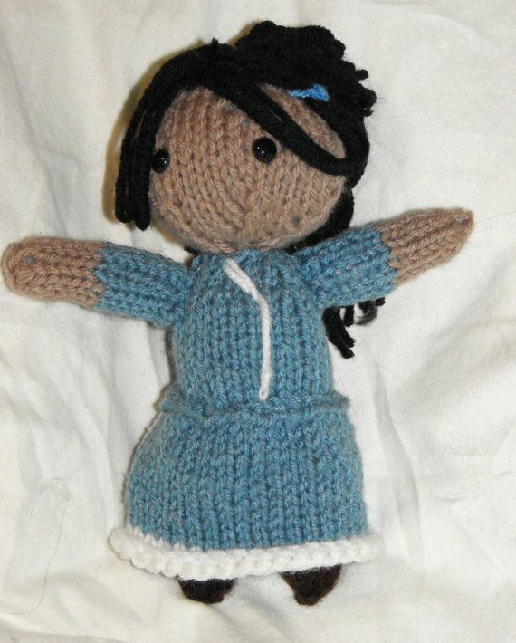Avatar The Last Airbender Katara Doll by ElaynaBKnits on Etsy, $14.50