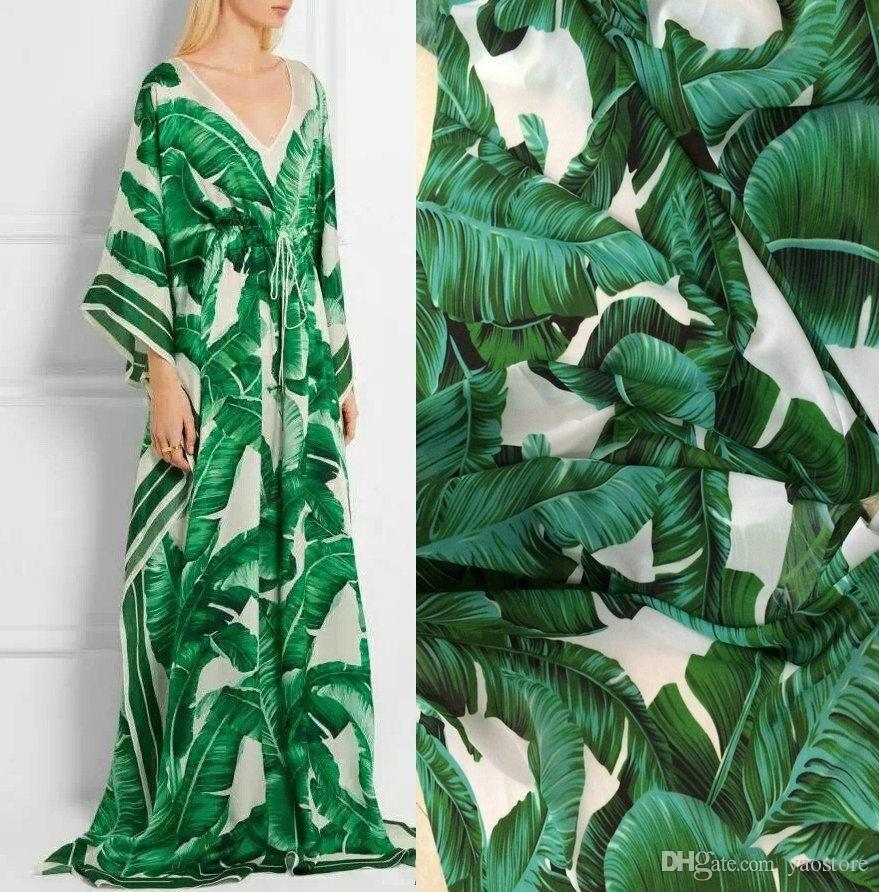 205a418eca4b2 145CM Width 100CM Length High-end Green Banana Positioning Floral ...