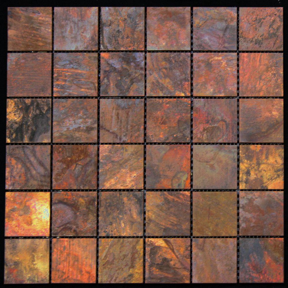 12 X 12 Metal Mosaic Tile Copper Wall Tiles Copper Tiles Metal Mosaic Tiles