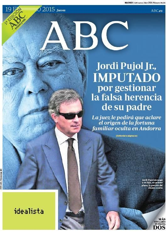 La portada de ABC del jueves 19 de febrero