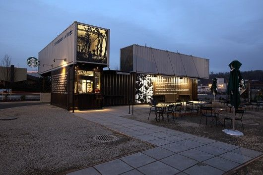 The Tukwila, WA Starbucks Store Is Based On Four End Of Life Cycle Shipping  Containers (Ph..
