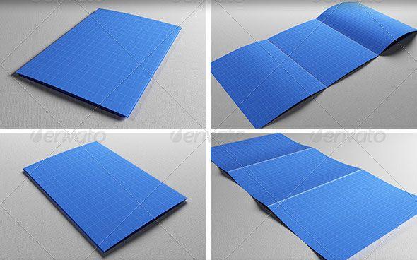 Cool Realistic A5 Brochure Mockup Template Brochure Folds