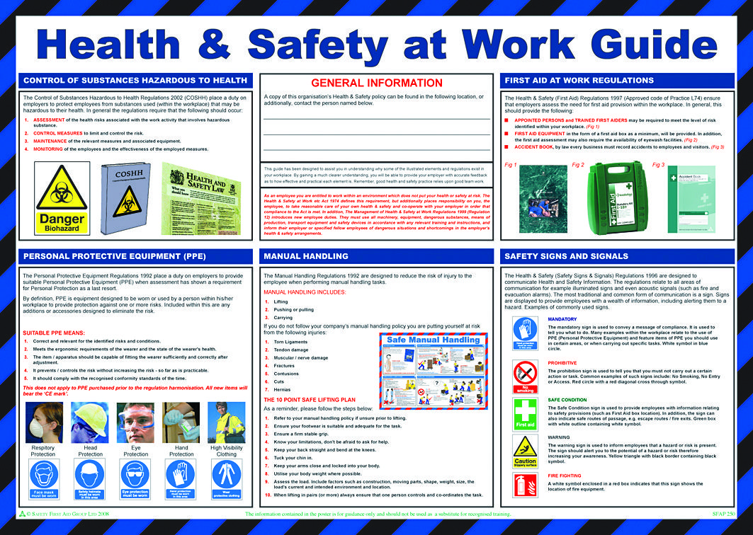 workplace safety posters Safety & Prevention Posters