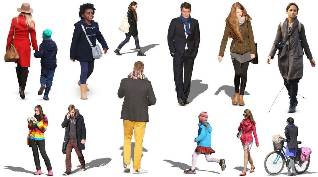 12 free 2d autumn cutout people 3d architectural for Rendering 3d gratis