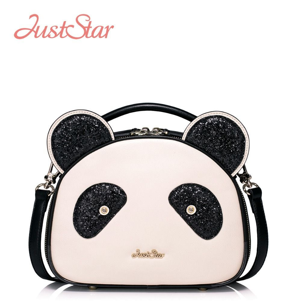 f6072211ba82 JUST STAR Women PU Leather Handbags Cartoon Panda Small Tote Bags Girl s  Shoulder Crossbody Bags Female Messenger Bags J1045