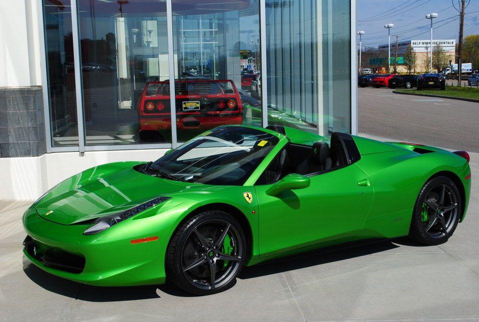 Green Ferrari 458 Spider Http Jx83395757 Com Green Ferrari 458 Spider