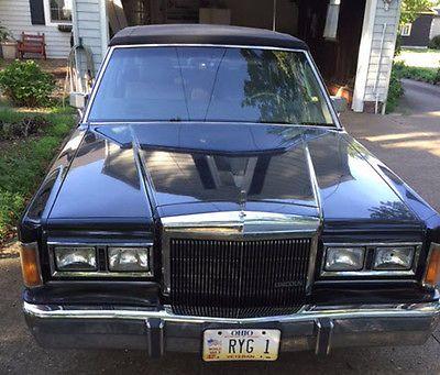 Ebay 1989 Lincoln Town Car Base Sedan 4 Door Classic Luxury Car