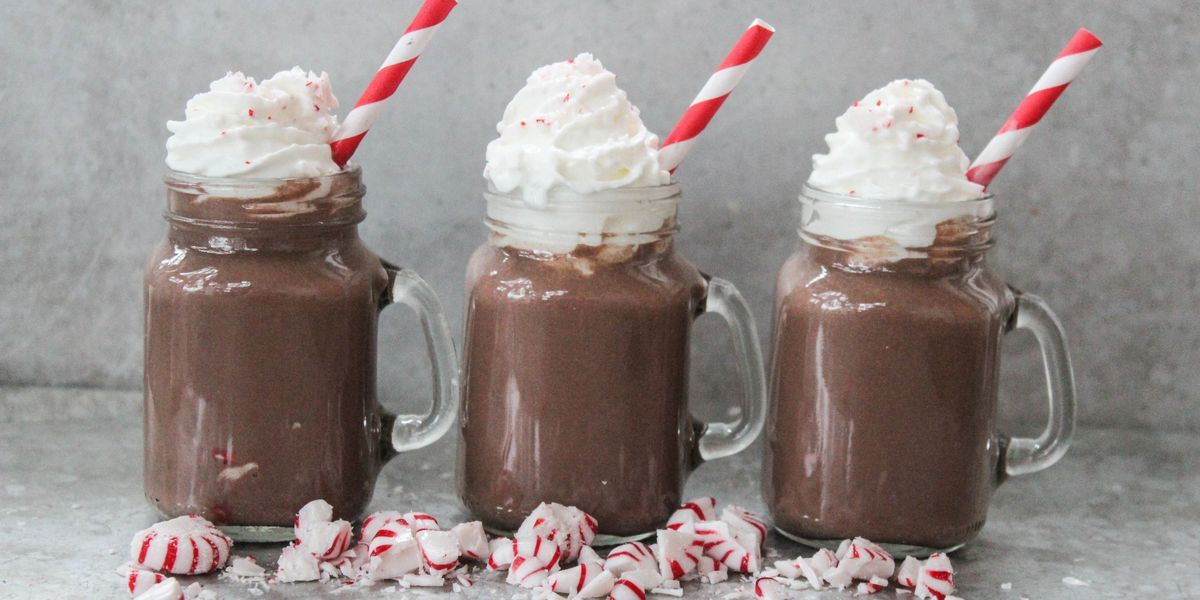 Peppermint Hot Chocolate #hotchocolaterecipe