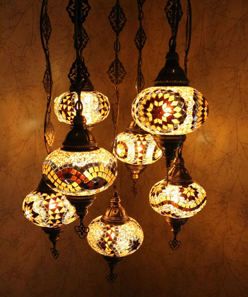 moroccan style lighting. Turkish Style Lighting. Multicolour Moroccan Large Mosaic Hanging Lamp Light 7 Globe Lighting Y