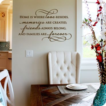 Home Is Where Love Resides Centered Version Wall Decals Walls - How to put a wall decal up